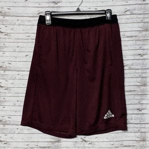 Adidas Climalite Basketball Shorts SZ:M Maroon